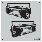 Stencil1 Boombox Repeat Pattern Stencil