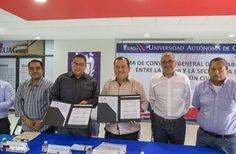 Firma convenio la UAGro y la Secretaría de Protección Civil - http://bloque.info/1XsLmAx #Educación