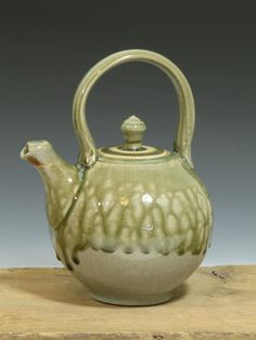 Blue Stoneware Teapot Handmade Ceramic Pottery Tea by JonArsenault on Etsy. Ceramic Teapots, Ceramic Pottery, The Potter's Wheel, Tea Cakes, Loose Leaf Tea, Stoneware Clay, Handmade Ceramic, Tea Sets, Pottery Ideas