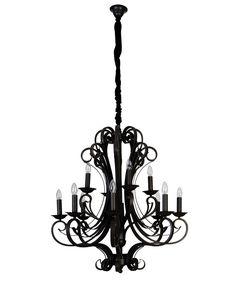 La Spezia 8 4 Light Pendant In Antique Black