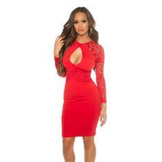 Sexy KouCla Midikleid mit Keyhole Cut Out Cocktail, After Dark, Farmer, Bodycon Dress, Red, Dresses, Fashion, Tunics, Curve Dresses