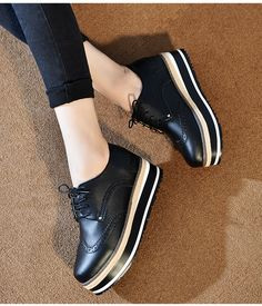 2016 Spring Shoes New Cow Leather Flat Shoes Women Lazy Thick Crust Shoes Fashion Loafers Women's Vulcanize Shoes SMYPDF-D0018