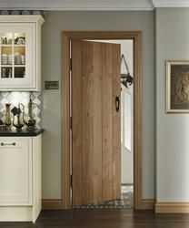 Solid Rustic Oak Ledged | Internal Hardwood Doors | Doors & Joinery | Howdens Joinery Front Entry, Entry Doors, Wooden Front Doors, Wood Doors, Panel Doors, Armoire, Tall Cabinet Storage, Interior, Furniture