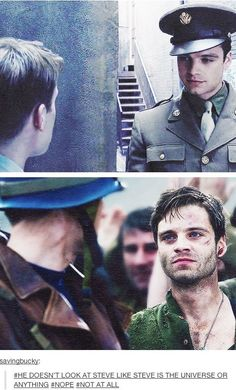 I want to find someone who looks at me the way Bucky looks at Steve <3