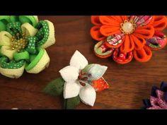 和洋折衷 世界の国花をちりめんで咲かせた つまみ細工の会