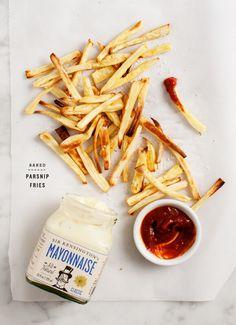 Baked Parsnip Fries - Healthy baked parsnip fries! Vegan & gluten free.