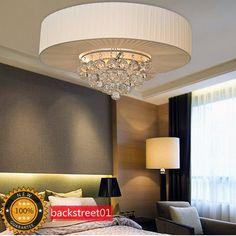 New Modern Luxury Crystal Ceiling Light Chandelier Pendant Lamp Lighting