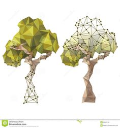 Tree In Low Poly Style Stock Photo - Image: 38562140