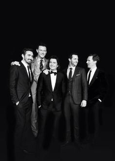 Lee Pace, Luke Evans, Orlando Bloom, Richard Armitage and Benedict Cumberbatch at the world premiere of The Hobbit: The Battle of the Five Armies.
