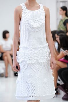Outstanding Crochet: Crochet Dress and Top from Delpozo.
