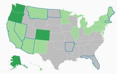us map breaking down legalization of marijuana laws by state with a look at adult