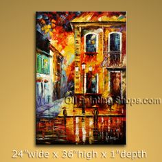 Affortable Original Impressionist Palette Knife Oil Painting On Canvas Panels Stretched Ready To Hang Landscape. In Stock $168 from OilPaintingShops.com @Bo Yi Gallery/ ops7077
