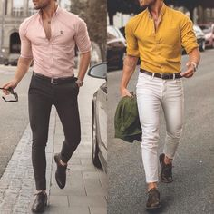Left or right Choose your favorite look! trendsformens is part of Formal men outfit - Mens Dress Outfits, Stylish Mens Outfits, Stylish Mens Fashion, Mens Fashion Suits, Mens Suits, Men Dress, Casual Outfits, Stylish Hair, Formal Dresses For Men