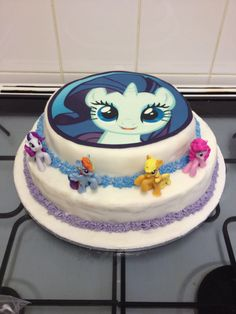 MLP Cake. A good idea is to put your favorite pony on the top then on the second layer put that figure pony in the front.