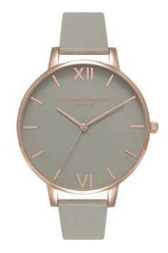 Olivia Burton Big Dial Grey & Rose Gold OB15BD61