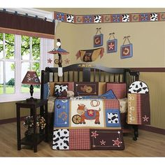 Baby Boy Crib Bedding Set 13 Pcs Nursery Western Cowboy Toddler Bed Comforter