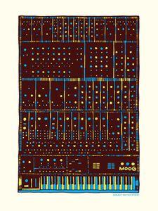 Moog art print