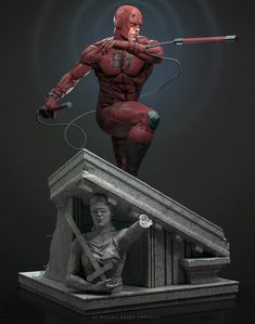 probably the longest project i have been working on this year but hopefully i might be able to call it done very soon. The sculpt is finished at but i still have to work on the face a litle bit more. Action Figure Naruto, Marvel Comics Art, Marvel Heroes, Comic Books Art, Comic Art, Daredevil Art, Marvel Statues, Marvel Show, Spider Man