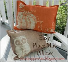 SweetPepperRose: Easy Place Mat Pillows