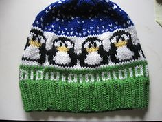 Funny 12-stitch penguin for happy knitting projects ;-)