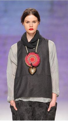 Accessories : Necklace Heart Big Rosette TMcollection Fall-Winter14 Detail