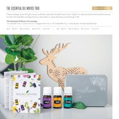 These holidays, share the gift of pure, authentic essential oils with loved ones. This is the perfect kit if you have been looking to buy pure essential oils and start your own wellness journey. These oils are 3 of the most popular pure essential oils from Young Living.The Essential Oil Novice Trio includes1 x Lavender 5 ml1 x Lemon 5 ml1 x Peppermint 5 ml1 x YL Collectible Tin1 x Introduction To Essential Oils Flyer