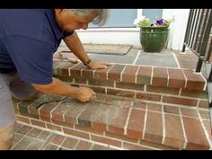 How to Repoint Brick Steps - This Old House .... yep, another to do on the list!