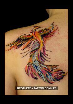 Phoenix Watercolor Tattoo (year 2016)  #phoenix #mythical #creatures #colorful #colors #animal #watercolor#tattoo #art #ink #instaart #tattooartist #tattooed #inkedup #tattooart #inked #bodyart #tattoolife #nice Life Tattoos, Tatoos, Year 2016, Mythical Creatures, Insta Art, Tattoo Artists, Phoenix, Watercolor Tattoo, Tatting