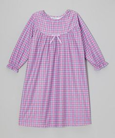Love this Kyra Plaid Bow Nightgown - Toddler & Girls by Cozytime on #zulily! #zulilyfinds