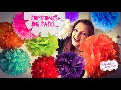 Tutorial paso a paso de cómo hacer Pompones de Papel :: Chuladas Creativas - YouTube