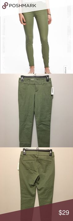 """Olive Pixie Long Mid-Rise Pants Olive pixie long mid-rise pants from Old Navy. Brand new with tags. Ordered online and they didn't fit me right. They're so cute and very comfy! Size zero and regular cut. Waist 23"""", Hip 24"""". Old Navy Pants"""