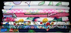Vintage Fabric Fat Quarter Bundle Edeline by CurlicueCreations, $8.00