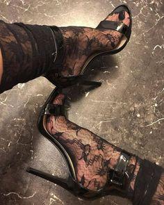 Lace tights black high heels Source by Hot Heels, Sexy Heels, Stiletto Heels, Pumps Heels, Platform High Heels, High Heel Boots, Heeled Boots, Shoe Boots, Talons Sexy