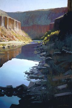 Rio Grande Reflections 36 x 24 Liz Haywood-Sullivan 2015. This is her best I have seen thus far!  Perfection. SOLD
