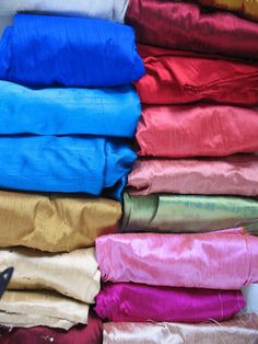 Beautiful colored silk for silk, satin & velvet Crazy Quilts I want to make [Goods From China - Silk]