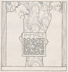 Ver Sacrum illustration (page 119) by Koloman Moser, 1899. ~via Koloman Moser, FB