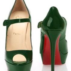 Hunter green heels