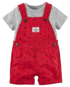 Baby Boy 2-Piece Tee & Shortalls Set   Carters.com
