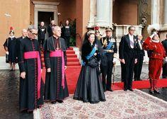 1980 fue el año de la visita de Isabel II al papa Juan Pablo II.