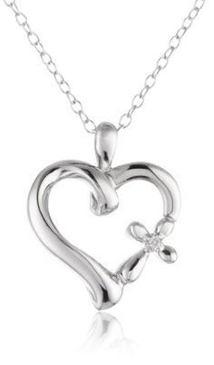 Sterling Silver Diamond Accent The Greatest Love Heart with Cross Pendant Necklace >>> Read more reviews of the product by visiting the link on the image.Note:It is affiliate link to Amazon.