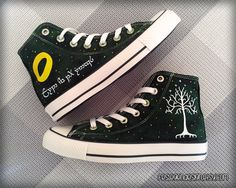 Your Name in Elvish 'Custom Converse' /  the Lord of the Rings  / Elf by FeslegenDesign on Etsy (null)