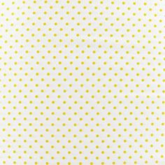 Tissu mini pois jaune fond blanc x 10cm