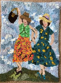 Rag Rugs, Wool Rugs, Locker Hooking, Punch Needle Patterns, Rugs And Mats, Latch Hook Rugs, Rug Hooking Patterns, Rug Ideas, Weaving Art