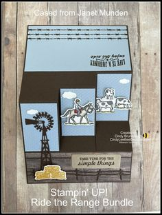 Stampin' UP! Ride The Range Bundle Side Step Fun Fold Video Tutorial   Cindy Lee Bee Designs 21 Cards, Kids Cards, Bee Design, Stampin Up Cards, Paper Crafts, Range, Create, Projects, Western Cowboy