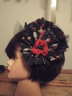 The Jolly Roger Hair Fascinator - Ruffles of Pirate Fabric, Lace and Tulle    https://www.etsy.com/listing/156586656/the-jolly-roger-hair-fascinator-ruffles?ref=shop_home_active