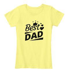 3eb451cbe1d Happy Fathers Day Lemon Yellow T-Shirt Front