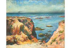 California Coast by Ejnar Hansen, 1925 on OneKingsLane.com  McNaught Fine Art, CA  Anthony McNaught