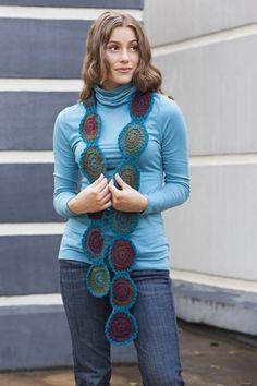 Free Universal Yarn Pattern : Circle Shades Scarf