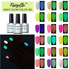 Nail Polish UV LED Glow in the Dark Dramatic Nail Art Soak Off Varnish Gift Set Carnival Party 24pcs 10ml FairyGlo ** Visit the image link more details. (This is an affiliate link) #NailArtAccessories
