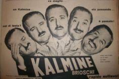 """www.piziarte.net La pubblicità negli anni 50 """"KALMINE"""" dalla rivista settimanale """"Il Tempo"""" 1954."""